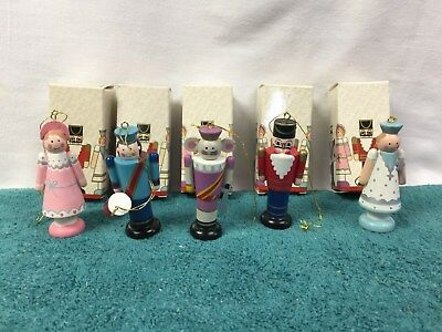 Lot of 5: Vintage Avon 1984 Nutcracker Christmas Ornaments