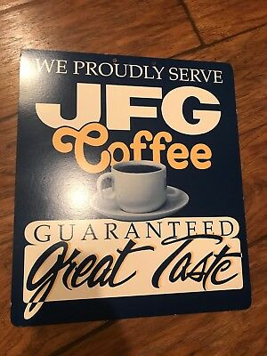 Vintage JFG Coffee RESTAURANT  Knoxville Tennessee General Store HANGING SIGN