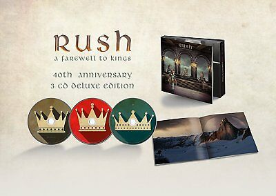 Rush A Farewell To Kings 3 Cd Deluxe 40Th Anniversary - New Release 2017