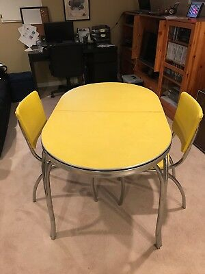 WOW! Vintage 1950s Retro Formica Chrome Dinette Kitchen Table/ 4 Chairs
