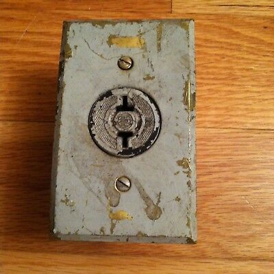ANTIQUE electrical outlet for plug & BRASS COVER PLATE, with box