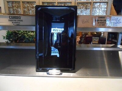 NEW Case of 6 Cambro 10CWCH110 Camwear Full Size Black Polycarbonate Handled Lid