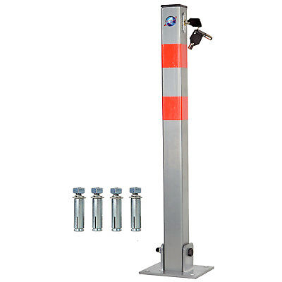 Lockable Parking Barrier Folding Car Park Bollard Security Driveway Post 3 Keys