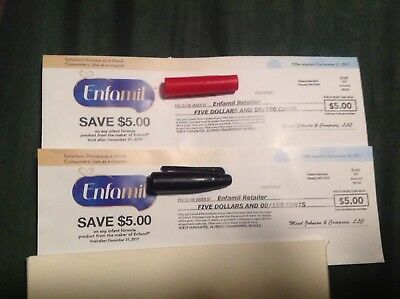 Two $5 Off Coupons for any Enfamil product (exp 12/31/17)
