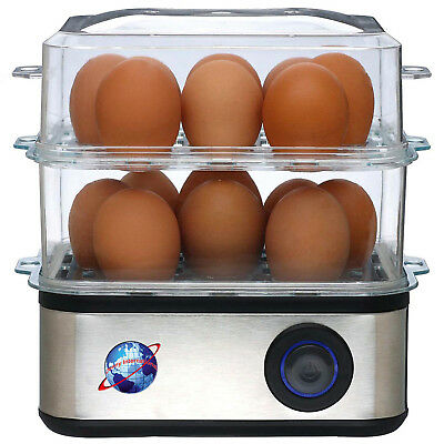 New Electric 16 Egg Boiler Steamer Poacher Cooker Eggs Vegetable Maker Appliance