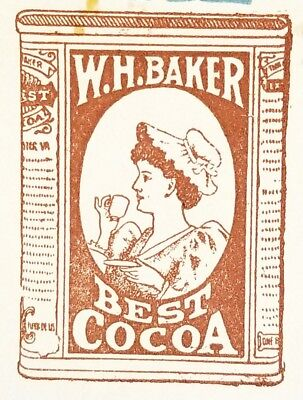 Early 1900's Antique Invoice ~ W.H. Baker & Co. ~ Chocolate ~ New York