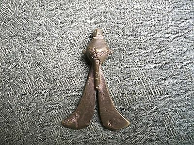 African Goldweight in the form of a Double Sword .         Ghana / Tribal