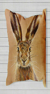 Hare Woodland Animal Head - Long Cushion Covers Pillow Cases Home Inner