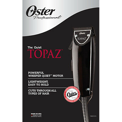 Oster Professional Powerful Whisper Quiet Topaz Barber Hair Clipper 76023-310