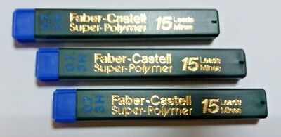 3x15=45 FABER-CASTELL SUPER POLYMER REFILL LEADS FOR MECHANICAL PENCIL 0.7mm 3H
