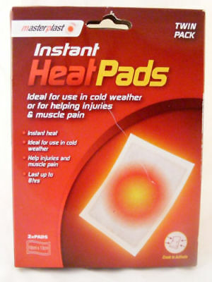Masterplast Twin Pack Instant Heat Pain Relief Pads Ideal For Sports Injuries