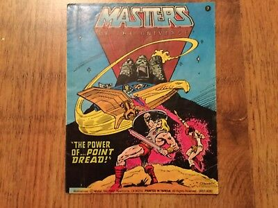"""Masters Of The Universe MOTU Minicomic """"The Power Of Point Dread"""""""