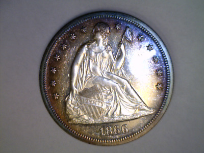 1866 Seated Liberty Dollar Proof See Pictures Start $1999