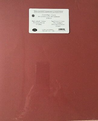 """New in Pkg Creative Memories Canyon Solid 10""""x12"""" Paper Pack 5 Sheets All the"""