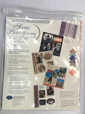 """New In Pkg Creative Memories Scenic Paper Pack:14 Sheets/7 Colors/10""""x12"""""""