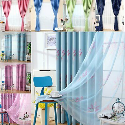 Door Window Curtain Lined Panel Blackout Thermal Treatment Drape Country Style