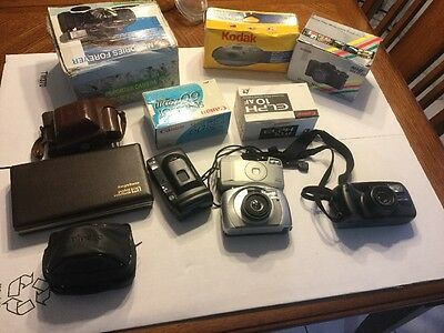 Lot Of 12 Film Cameras Cannon Minolta Argus Kodak