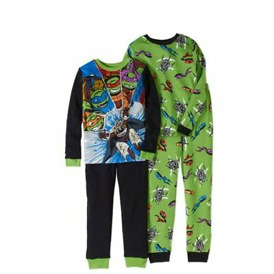 Teenage Mutant Ninja Turtles Boys Knit 4Pc Pajama Set, size 10