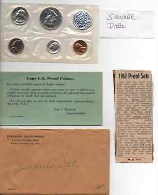 1960 Proof Set Small Date