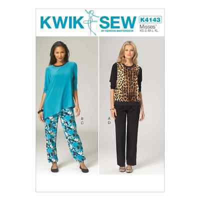 Kwik Sew Sewing Pattern K4143 Misses' Tops and Pants