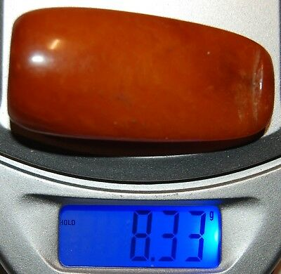 Natural Baltic Amber. Vintage Cigarette Holder. Red/Brindled color. 8,3 g (a769)