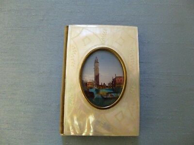 Beautiful Little Antique Mother Of Pearl Aide Memoire / Notepad/original Box?