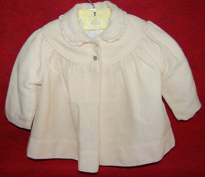 Vtg Toddler/baby Millicent's Of San Francisco Cream (Wool?) Coat Excellent Cond.