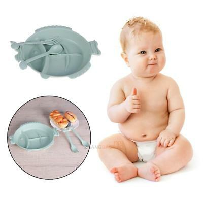 Fish Shape Placemat Wheat Fiber Mat Baby Kid Table Food Dish Tray Plate Bowl