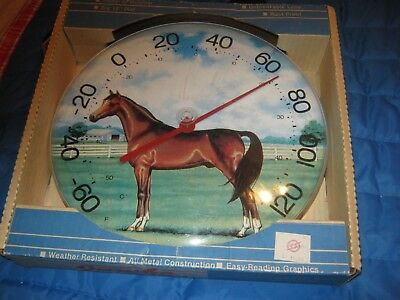 Vintage Jumbo Dial Horse Thermometer