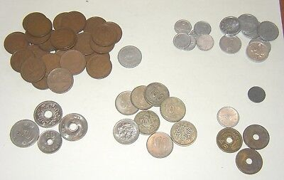 Lot of Old (Mid 20th Century)  Coins from Japan