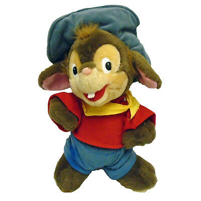An American Tale FIEVEL Soft Toy Mouse 1980s Vintage Universal Studios Florida