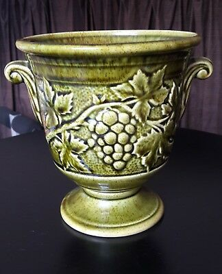 Holkham Pottery Green Grecian Urn with grapes