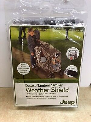 Deluxe Tandem Stroller Weather Shield