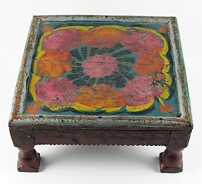 Antique Wooden Tea Table from Afghanistan #2