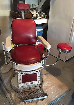Antique Theo A Kochs Barber Chair w/Side Chair - Rare | Excellent Condition