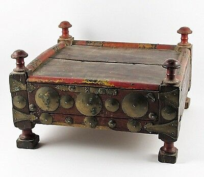 Antique Wooden Tea Table from Afghanistan #3
