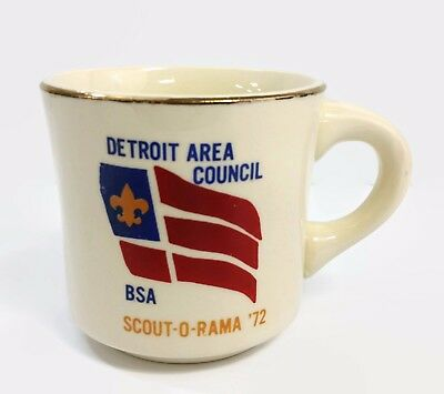 Boy Scouts of America Detroit Area Council BSA Scout O Rama '72 Coffee Cup Mug