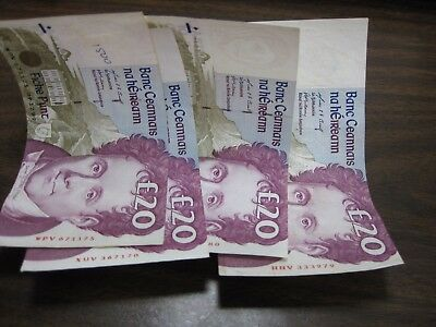 Central Bank Of Ireland 100 Punt  100 Pounds Currency Exchangable