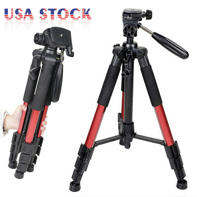 Q111 Professional Heavy Duty Aluminum DSLR Camera Tripod Monopod Pan Head Red