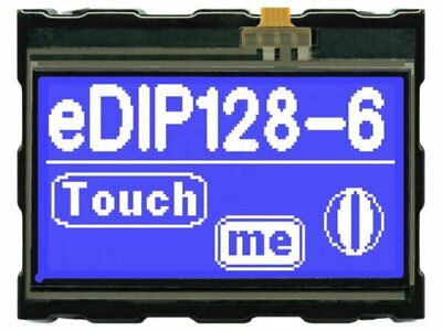 1 pcs Display: LCD; graphical; STN Negative; 128x64; blue; LED; PIN:32