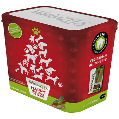 Whimzees Festive Treats With Free Personalisable Storage Tin 2 Sizes