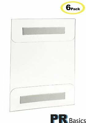 Acrylic Sign Holder Wall Mount 8.5 X 11 Inches with Adhesive Tape - 6 Pack - NO