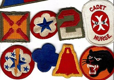 WW2 lot of original patches, guaranteed.19th Corps(old),66th Div, and lots more!