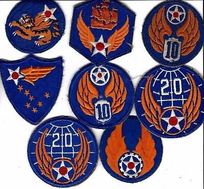 RARE WW2 lot original patches, guaranteed.Air Corps, 10th, 6th, and more....nice