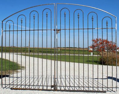Handmade Wrought Iron Large Driveway Gate 5't x 8'w - Center Divide