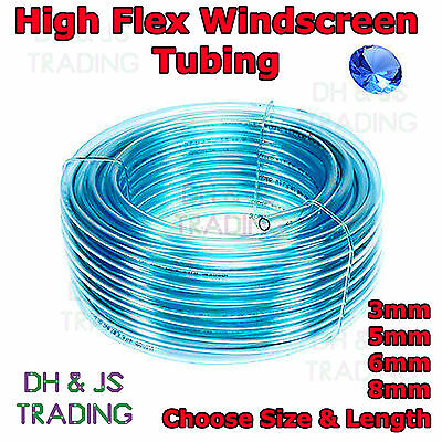 Windscreen Washer Tubing Piping Tube Pipe Hose Mender Clear Plastic 3 5 6 8mm