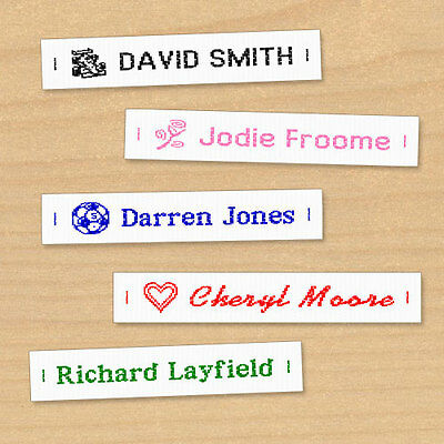 Woven Name Labels, Sew-in Name Tags for School Childrens Uniform UK - SENT FAST
