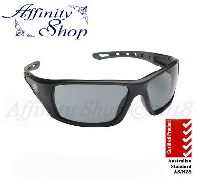 Force360 Mirage Polarised Safety Glasses Black Work Eyewear Specs Free Pouch