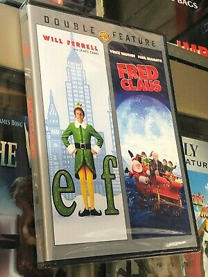 Elf / Fred Claus (DVD) 2-Disc Set! Christmas Double Feature! Will Perrell, NEW!