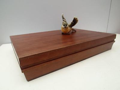 Vintage WOODEN Timber CUTLERY Canteen BOX Green LINED QZZQ Adelaide